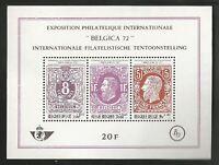"Belgium Stamp Exhibition ""Belgica 72"" 1970 - Minisheet MNH"