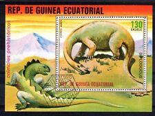ODA105 DINOSAURE Guinee Equatoriale 1 bloc oblit��ré