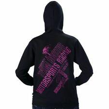 Arctic Cat Women's Team Arctic Motorsports Hoodie Sweat Shirt Black & Pink