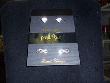 "Park Lane ""INFINITE & TRILLION"" Earrings, 2 Sets, Silvertone, Crystals, NEW!!!"