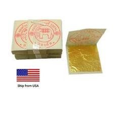 """Gold Leaf Sheet 24K Pure 99.99% Gold Thai Gilding Foil - 1.35"""" 10 Sheets"""
