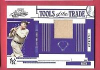 BABE RUTH GAME USED JERSEY CARD #d24/50 2005 ABSOLUTE TOOLS OF THE TRADE YANKEES