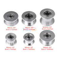 5x GT2 Timing Pulley 16/20T Teeth Aluminum Bore 3/5mm for 3D Printer 6/10mm Belt