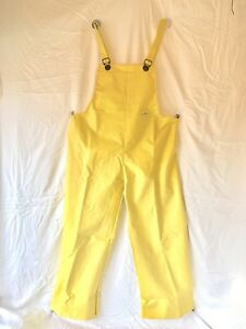NEW North Waterproof Bib Pants Mens XXL Yellow Flame Retardant Rain Gear
