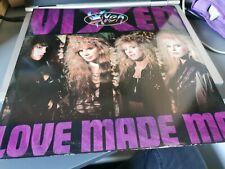 "New listing Vixen / Love Made Me- 3 Track ( 2 x live UK) 12"" Vinyl 1989"