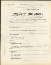 Militaria WWII Bulletin masque à gaz Défense Passive Guerre 39 45 Papier ancien