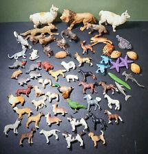 Lot of 62 Safari Ltd Plastic Animal Figurines, Wild, Domestic, Marine, Pets-Toys