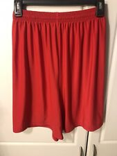 MENS UNDER ARMOUR SMALL RED SHORTS BASKETBALL GYM WORKOUT RUNNING