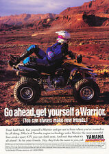 1994 Yamaha Warrior ATV - Original Car Advertisement Print Ad J234