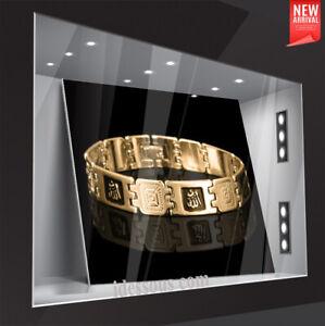 18 karat Armkette Armreif Königskette 21cm Armband Herren Damen vergoldet Gold