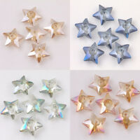 10/20Pcs Crystal Glass Star Shape Loose Beads Jewelry Craft  DIY Making 10x4mm