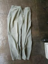 Vtg 1940s WWII USMC US MARINE CORPS HBT Herringbone Trousers Pants. 31x29 Named