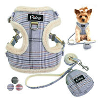 Front Clip Small Dog Harness&Leash&Treat Bag Set Mesh Padded Pet Puppy Cat Vest