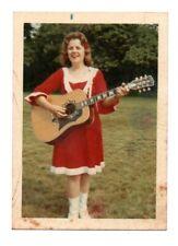 Vintage RARE Candid Snapshot Gloria Belle First Female bluegrass vocalist