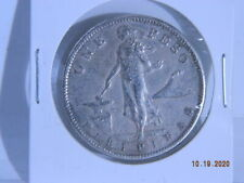 1911-S Philippines One Peso Silver Foreign Coin (Sweet Condition)