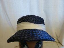 Ancien chapeau des années 50 vintage EN PAILLE TRESSE