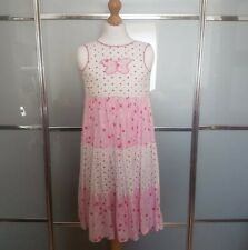 ADAMS GIRLS SPOTTED PINK & WHITE SUMMER DRESS AGE 3 YEARS EXCELLENT CONDITION