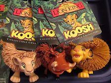 DISNEY THE LION KING KOOSH BALL CHARACTER FIGURE TOY SET OddzOn 1994 ALL 4