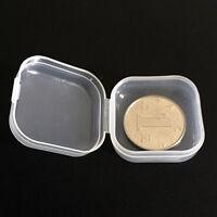 10 Stück klare Kunststoff Deckel Aufbewahrungsbox Sammlung Container Case J
