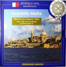 Malta Euro KMS 2016 Malteser Kreuz 1 Cent bis 2 Euro Sondersatz im Folder