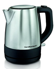 Hamilton Beach Stainless Steel Electric Kettle 1 L Silver Hot Water Fast Boiler