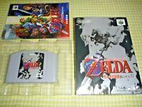 Zelda Ocarina of Time Nintendo 64 N64 Japan Box Manual Free Shipping