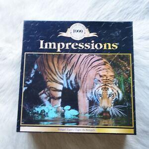 IMPRESSIONS Bengal Tiger 2005 1000 Piece Jigsaw Puzzle ANIMALS Safari INDIA