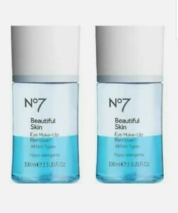2x No7 - Radiant Results - Revitalising - Eye Make-Up Remover - 100ml