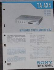 Sony TA-AX4 hifi amplifier service repair workshop manual (original copy)