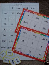 Teaching Resources- Reception High Frequency Word Bingo