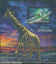 CENTRAL AFRICA 2013 AFRICAN FAUNA SOUVENIR SHEET  MINT NH