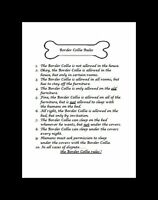 "Border Collie ""Rules"" Dog Art Print - Matted"