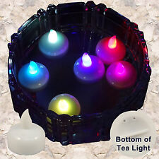12 Multicolor Led Floating Candle Floral Tea Light for Wedding Centerpiece Decor