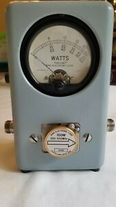Bird Model 43 Thruline Wattmeter with 100D Elements: 100D, 200-500 Mhz