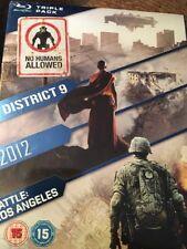 Triple Pack (Blu Ray Region Free) District 9 / 2012 / Battle : LA