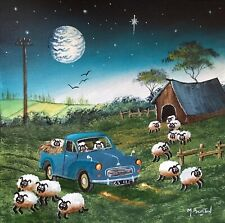More details for mal.burton original oil painting.  crazy sheep  northern art direct from artist