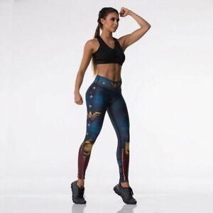 Superhero Leggings Wonder Woman Drakon Style Leggings For Yoga & Pilates OSFM