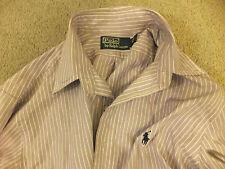 Polo Ralph Lauren Cuello Botones Camisa Para Hombres Ajuste Personalizado Talla 15.5