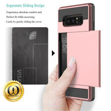 For Samsung Galaxy Note 9 Wallet Case Card Slots Hybrid Shockproof Phone Cover