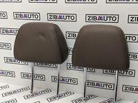 BMW E60 E61 Front Seat Leather Headrest Truffle Brown 7076666 F0l1691