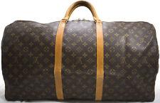 Louis Vuitton KEEPALL Bandouliere 60 Reise Tasche Bag Weekender Soft Trunk SUPER