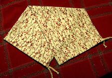 Handmade 6x16 - 17 Bolster Pillow Cotton Cover_Winter Berries_w/ Ties
