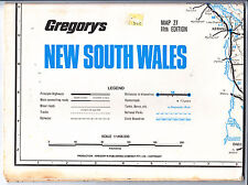Gregory's New South Wales Map 27 - 11th Edition - 1980 - Vintage Sheet Paper Map