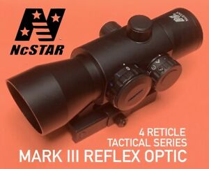 NcSTAR VISM Tactical Series REFLEX OPTIC 4 Reticle Red Blue Green Dot & QR Mount