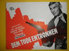 Dem Tode entronnen / EA-Werberatschlag 1954 / Jeff Chandler, Dorothy Malone