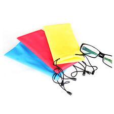 5X Sunglasses Bag Pouch Soft Cloth Cleaning Optical Glasses Case HGUK