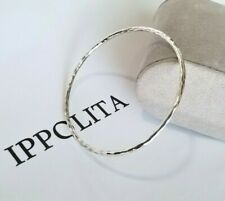 IPPOLITA - Hammered Sterling Silver Bangle Bracelet - Mint Condition!