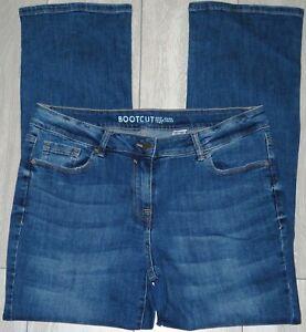Womens🦋NEXT🦋blue stretch bootcut denim jeans size 16R