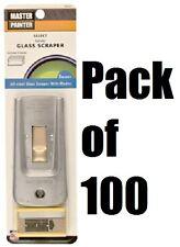 (100) ea Master Painter Gs Steel Safety Glass Razor Blade Scraper w 5 Blades