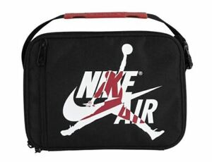Nike Air Jordan Jumpman Insulated Fuel Pack Lunch Bag Black Gym Red 9A0258-KR5